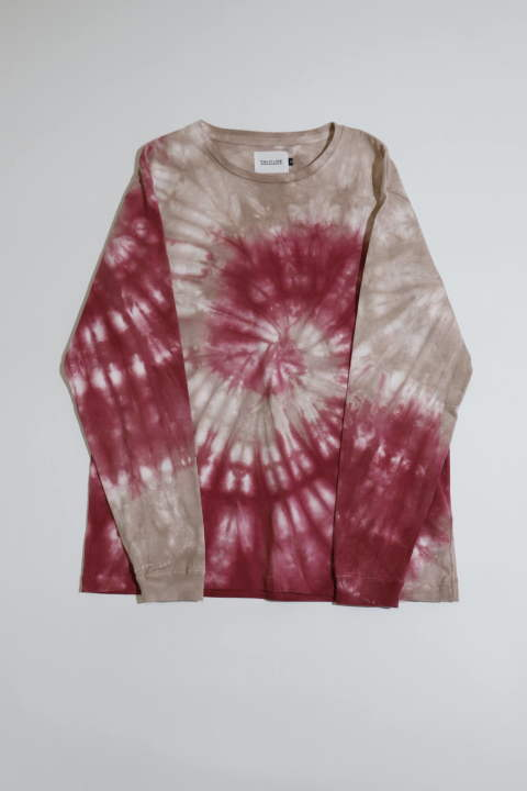 Tie Dye L/S Tee Red | タイダイ染め長袖Tシャツ