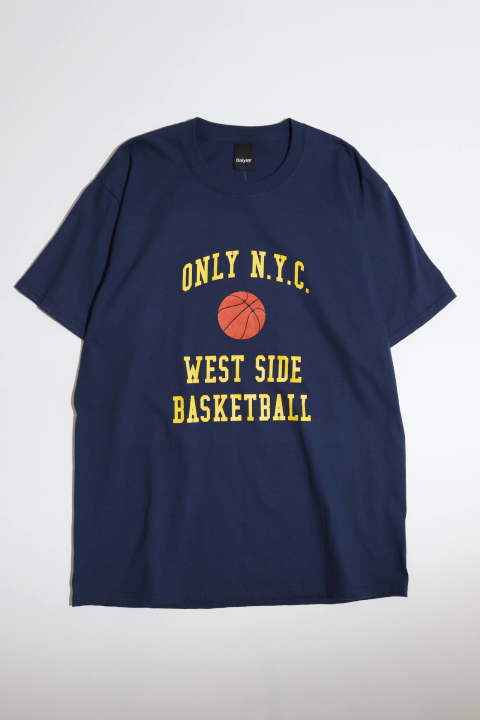 ≪Lサイズのみ残り1点≫West Side Basketball T-shirt Navy | ウェストサイドプリントTシャツ