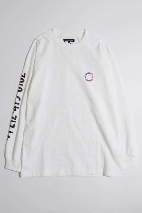 ≪Lサイズのみ残り1点≫Phone Number L/S Tee White | プリント長袖Tシャツ