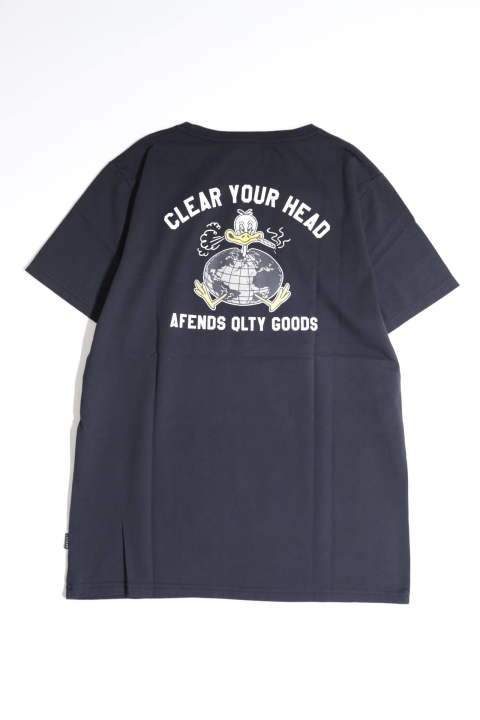 CLEAR YOUR HEAD BLACK | プリントTシャツ