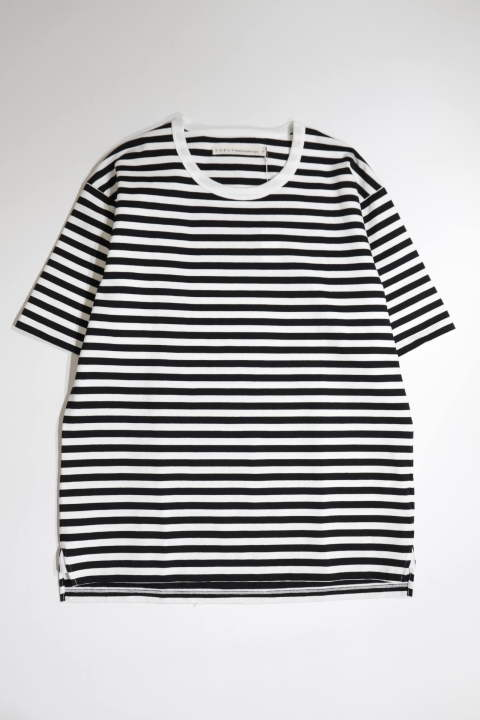 ADVANCE HS BORDER TEE BLACK/WHITE | ボーダー半袖Tシャツ