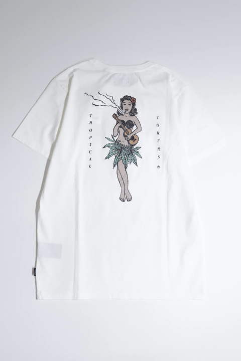 TROPICAL TOKERS WHITE | バックプリントTシャツ