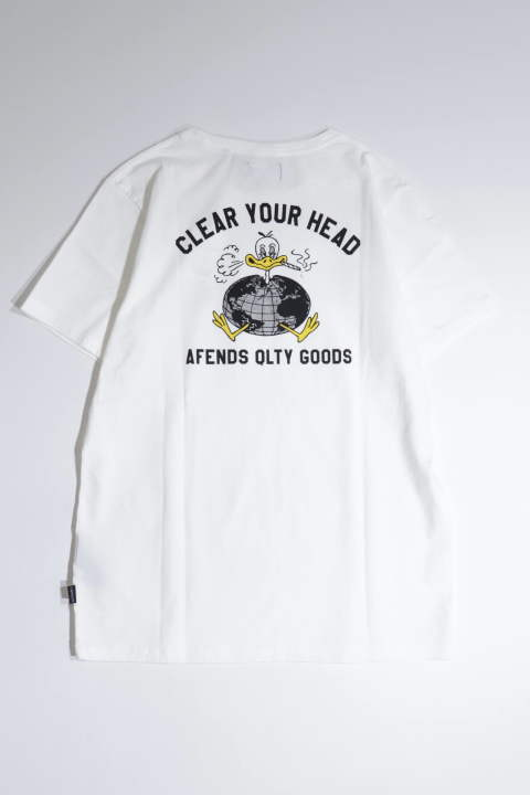 CLEAR YOUR HEAD WHITE | プリントTシャツ