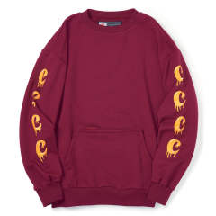 DRIPPING CREWNECK SWEATS BURGUNDY | クルーネックスウェット