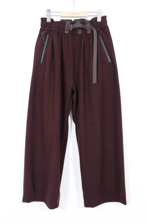 AZTEC WIDE TROUSERS BURGUNDY | デュアルリップル