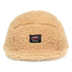 FLEECE BOA SHORT VISOR 5PANEL CAP BEIGE | フリースボア5Pキャップ