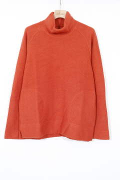 CLOUDY MOCK NECK ORANGE | ツイルワッフル