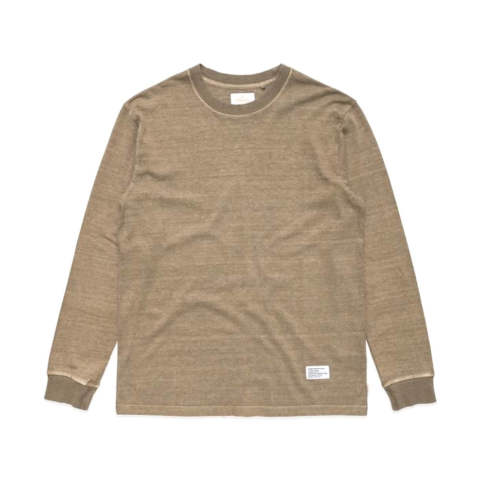 STANDARD ISSUE HEMP RETRO FIT LONG SLEEVE TEE COVERT GREEN | ロングスリーブヘンプカットソー