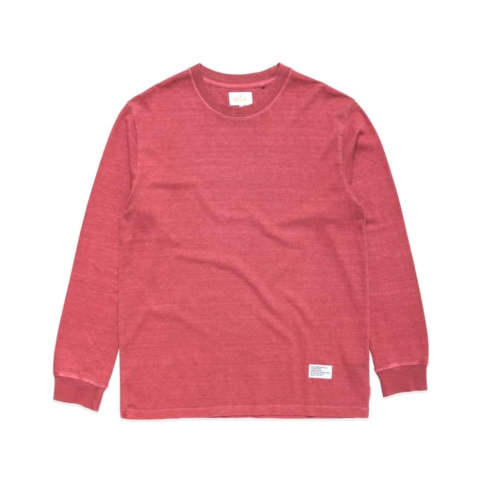 STANDARD ISSUE HEMP RETRO FIT LONG SLEEVE TEE CHILLI | ロングスリーブヘンプカットソー