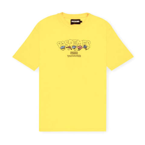 PEACE T-SHIRT YELLOW | 半袖Tシャツ