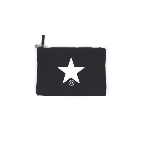 LEATHER STAR PORCH BLACK | レザースターポーチM