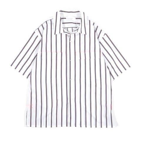 H/S SHIRT STRIPE WHITE | 半袖シャツ