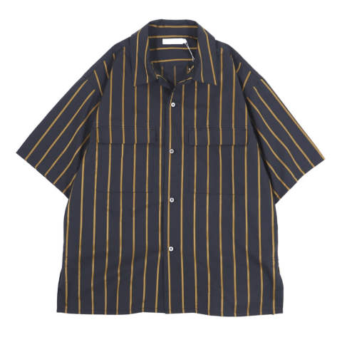 H/S SHIRT STRIPE BLACK | 半袖シャツ